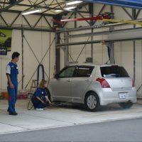 洗車の訓練