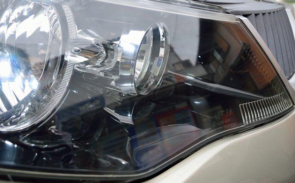 ヘッドライト磨き【施工後】