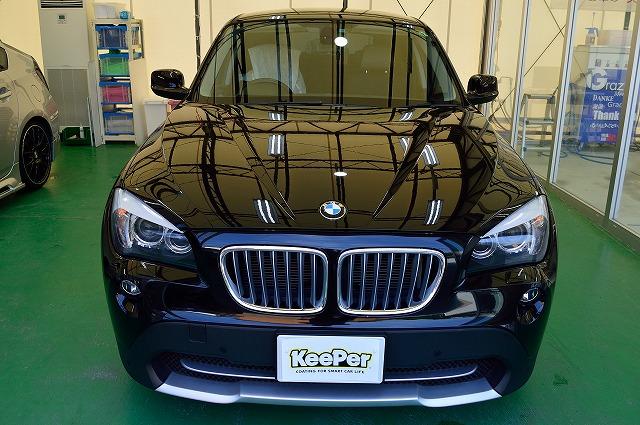 BMW・X1に軽研磨クリスタル