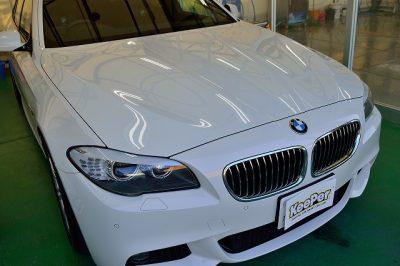 BMW5シリーズにダイヤモンドキーパー施工