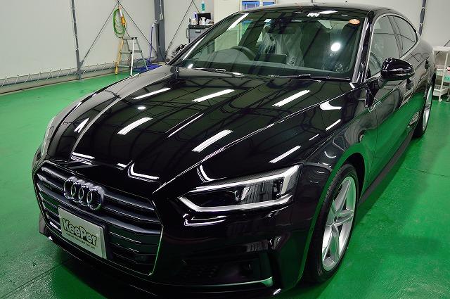 新車のアウディA5にダイヤモンドキーパー施工